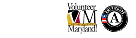 Volunteer Maryland and Americorps Logo